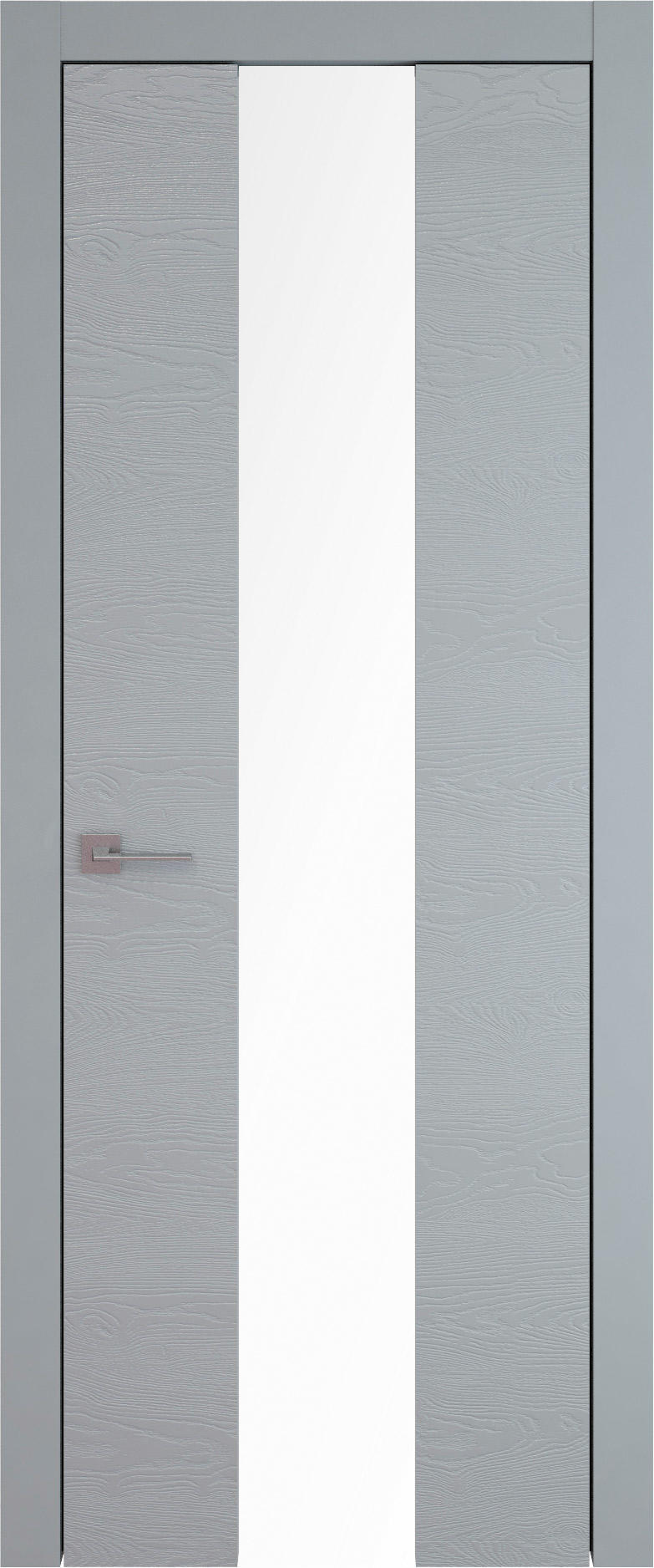 Tivoli Ж-5 цвет - Серебристо-серая эмаль по шпону (RAL 7045) Со стеклом (ДО)