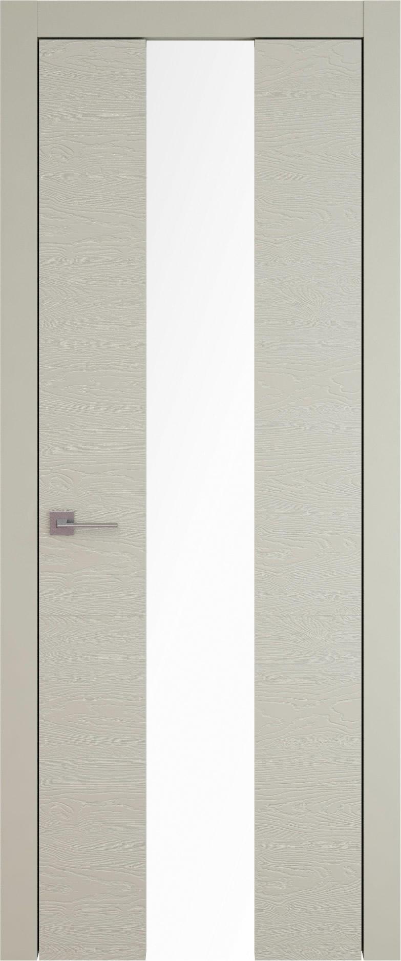 Tivoli Ж-5 цвет - Серо-оливковая эмаль по шпону (RAL 7032) Со стеклом (ДО)