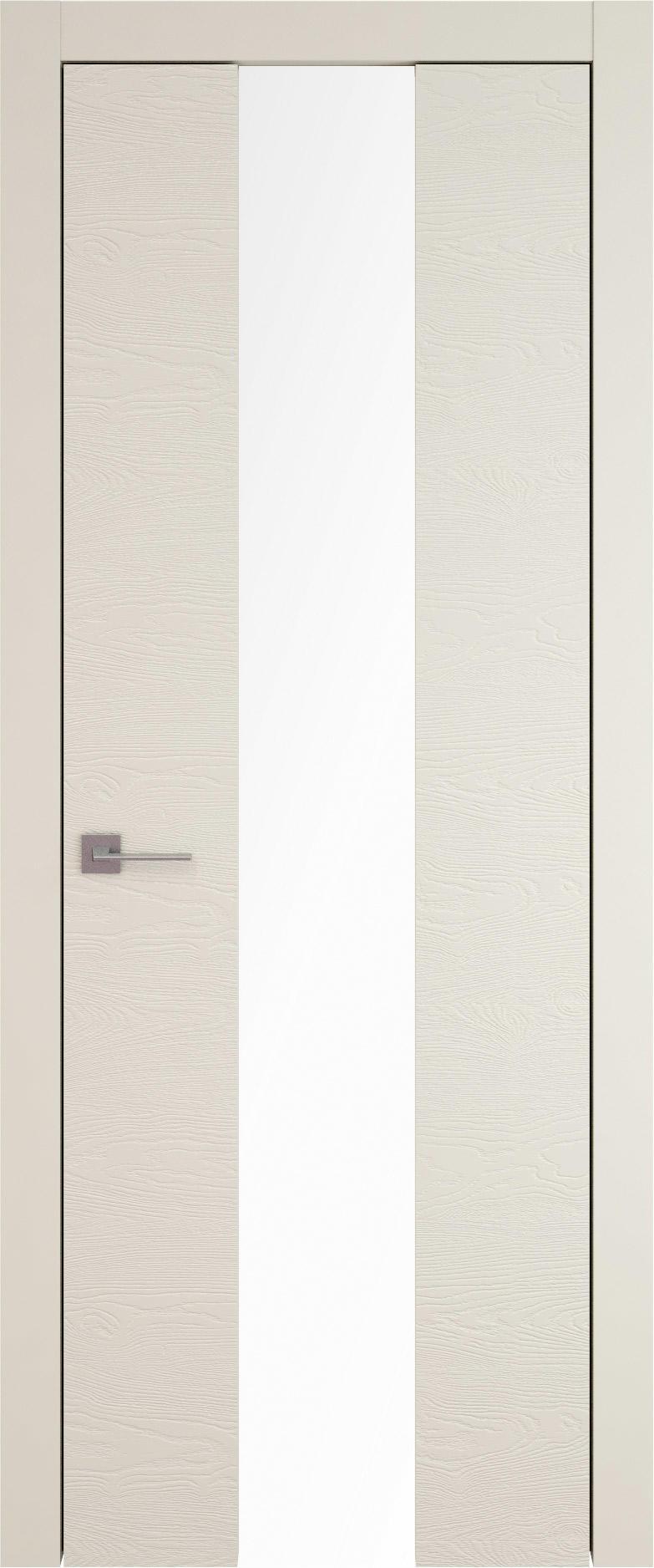 Tivoli Ж-5 цвет - Жемчужная эмаль по шпону (RAL 1013) Со стеклом (ДО)
