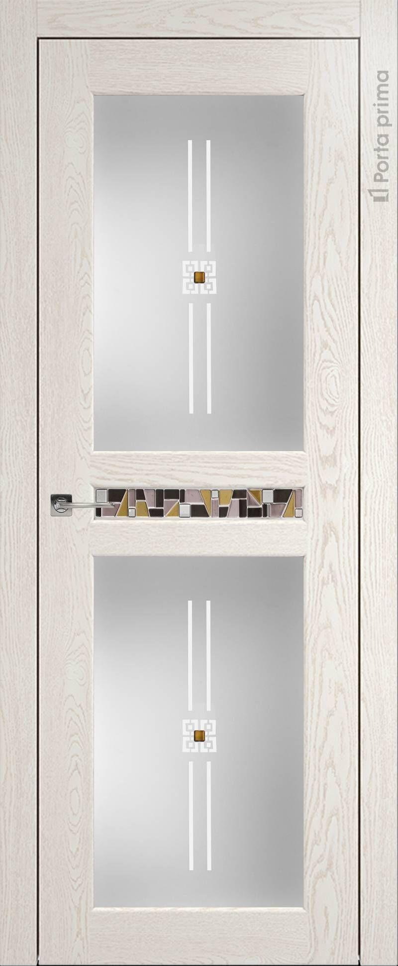 Verona цвет - Белый ясень (nano-flex) Со стеклом (ДО)