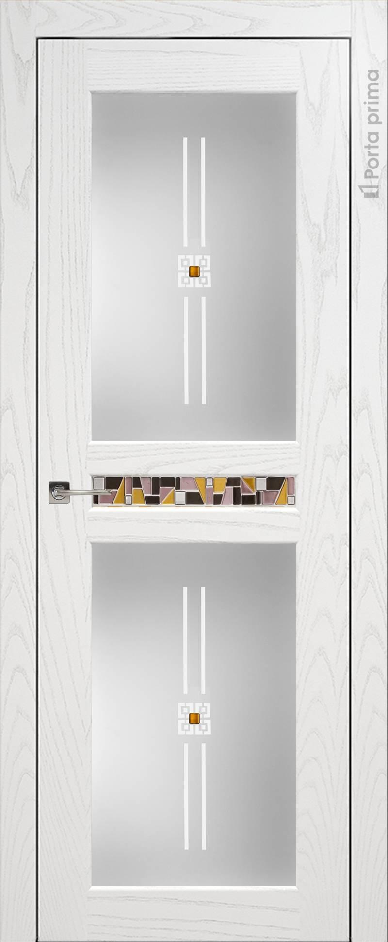 Verona цвет - Белый ясень (шпон) Со стеклом (ДО)