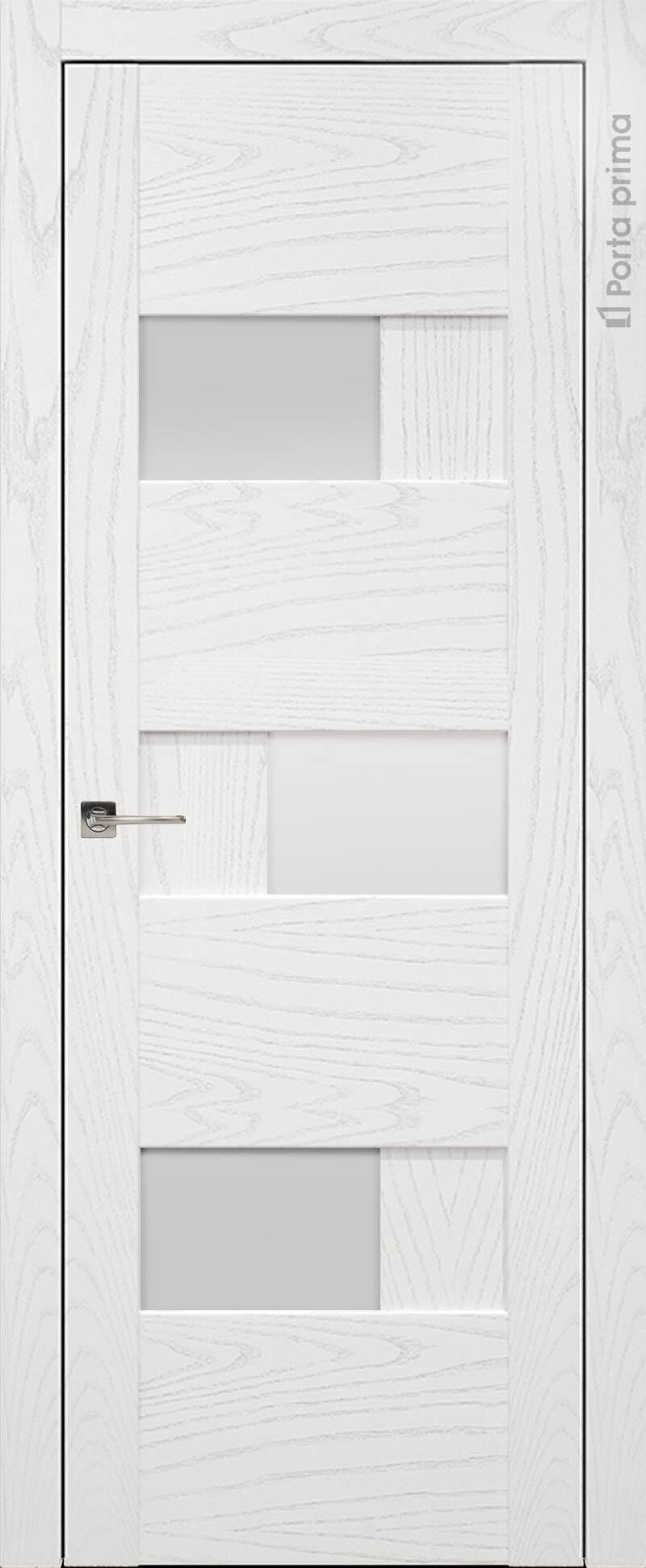 Vicenza цвет - Белый ясень (шпон) Со стеклом (ДО)
