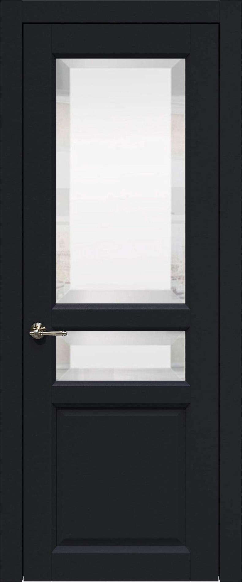 Imperia-R цвет - Черная эмаль (RAL 9004) Со стеклом (ДО)