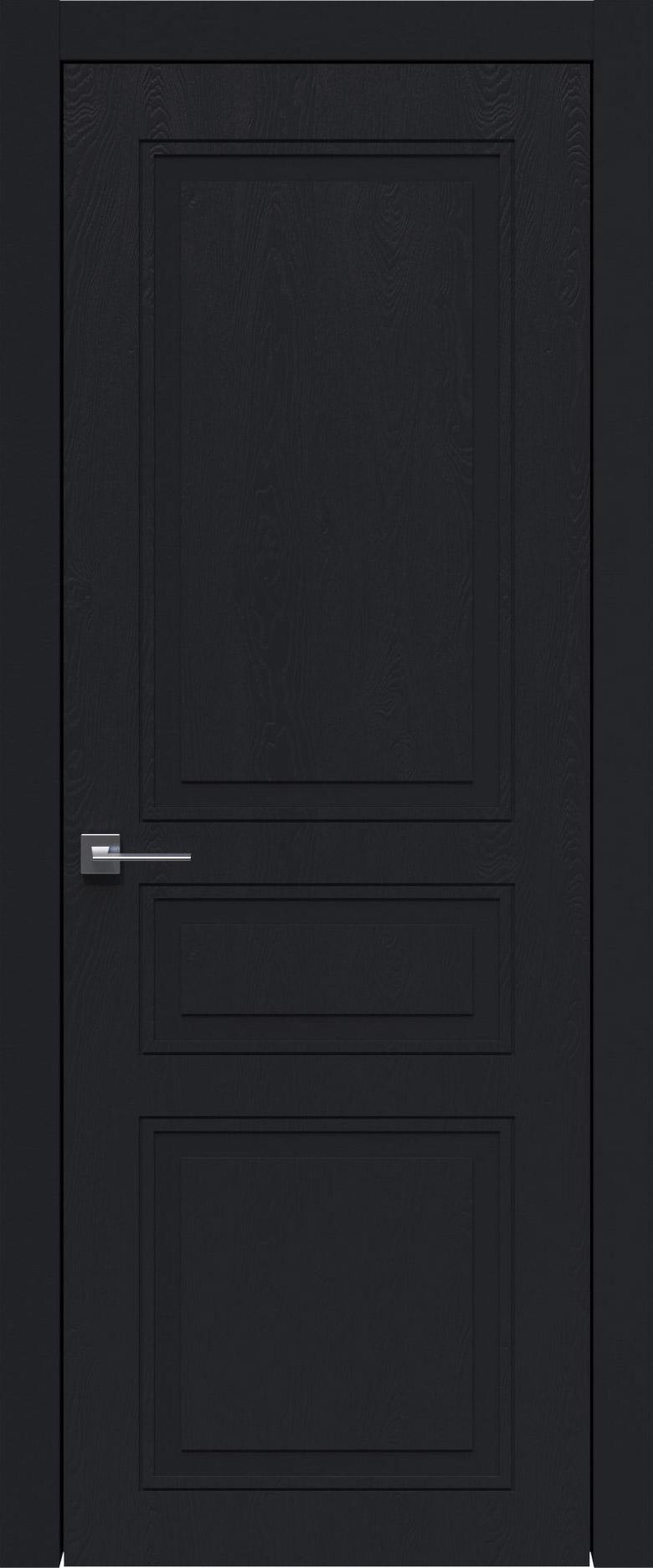 Imperia-R Neo Classic цвет - Черная эмаль по шпону (RAL 9004) Без стекла (ДГ)