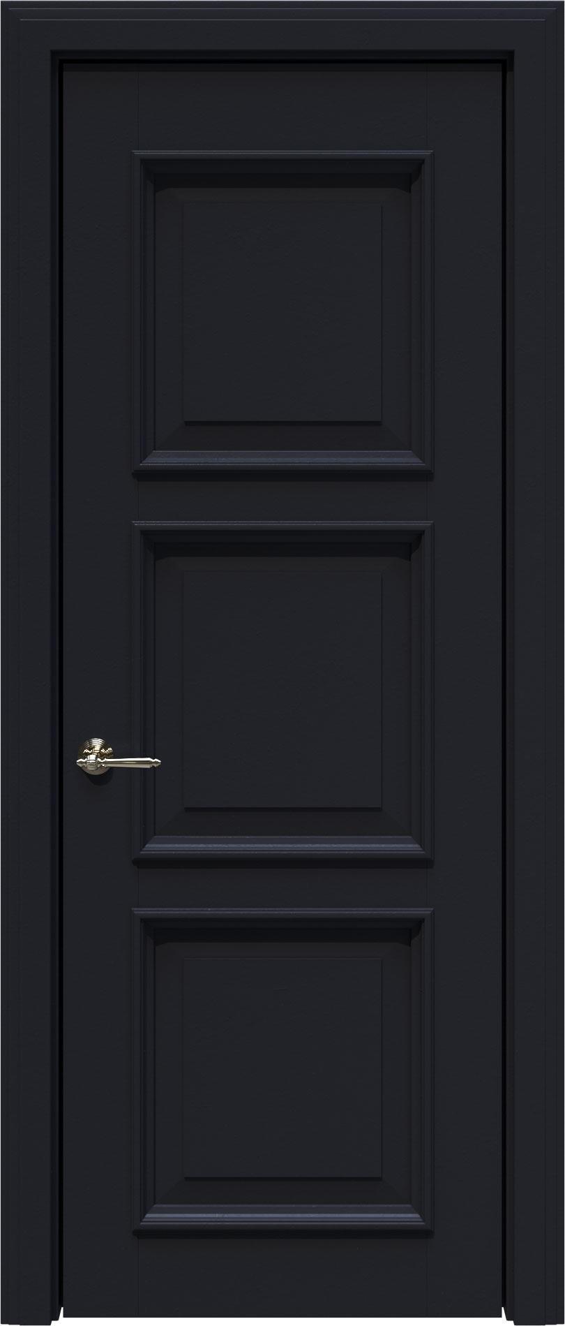 Milano LUX цвет - Черная эмаль (RAL 9004) Без стекла (ДГ)