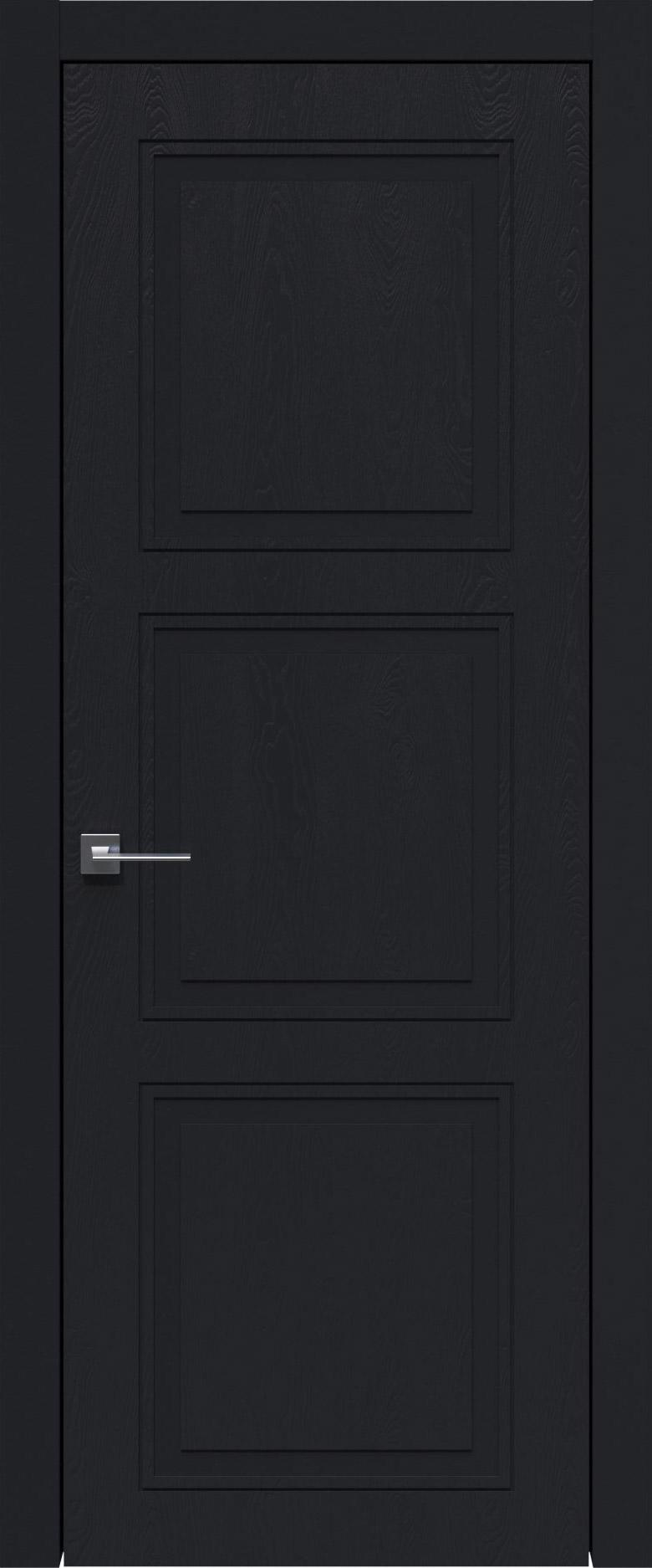 Milano Neo Classic цвет - Черная эмаль по шпону (RAL 9004) Без стекла (ДГ)