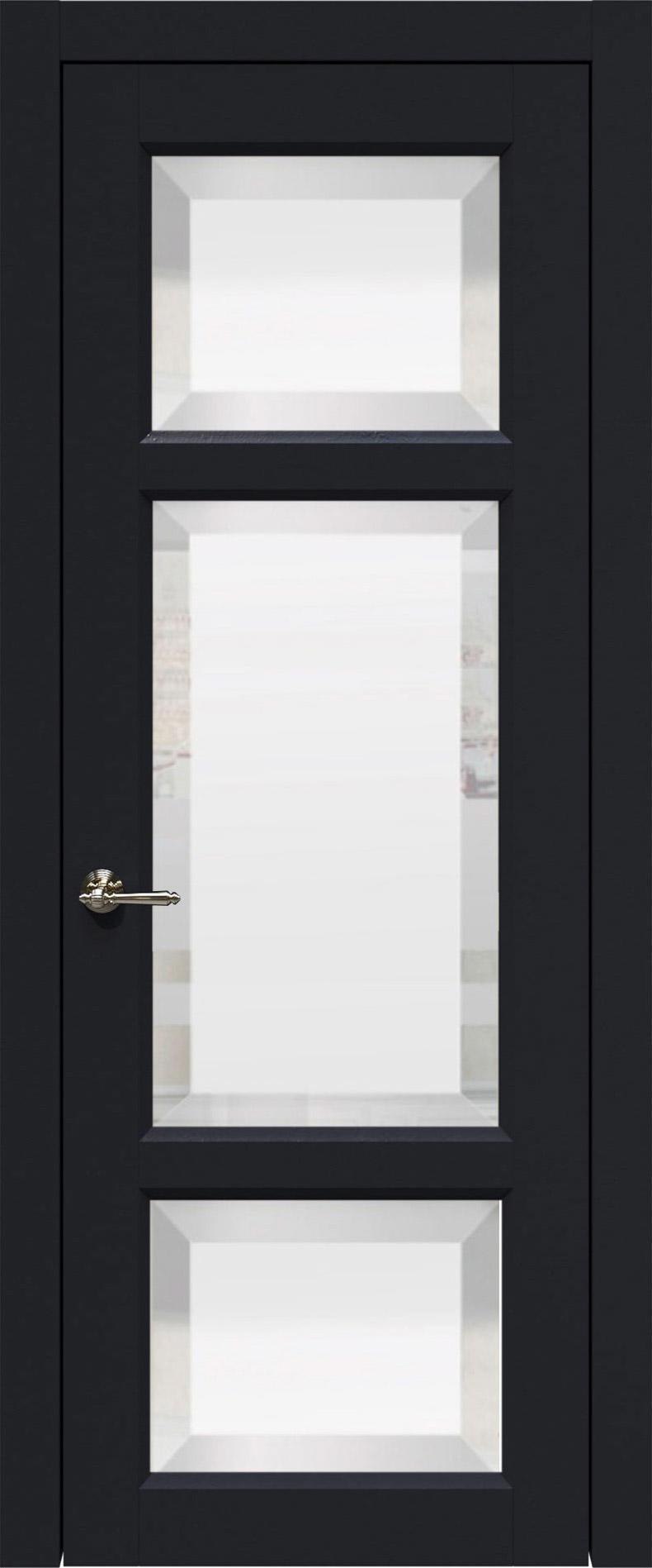 Siena цвет - Черная эмаль (RAL 9004) Со стеклом (ДО)