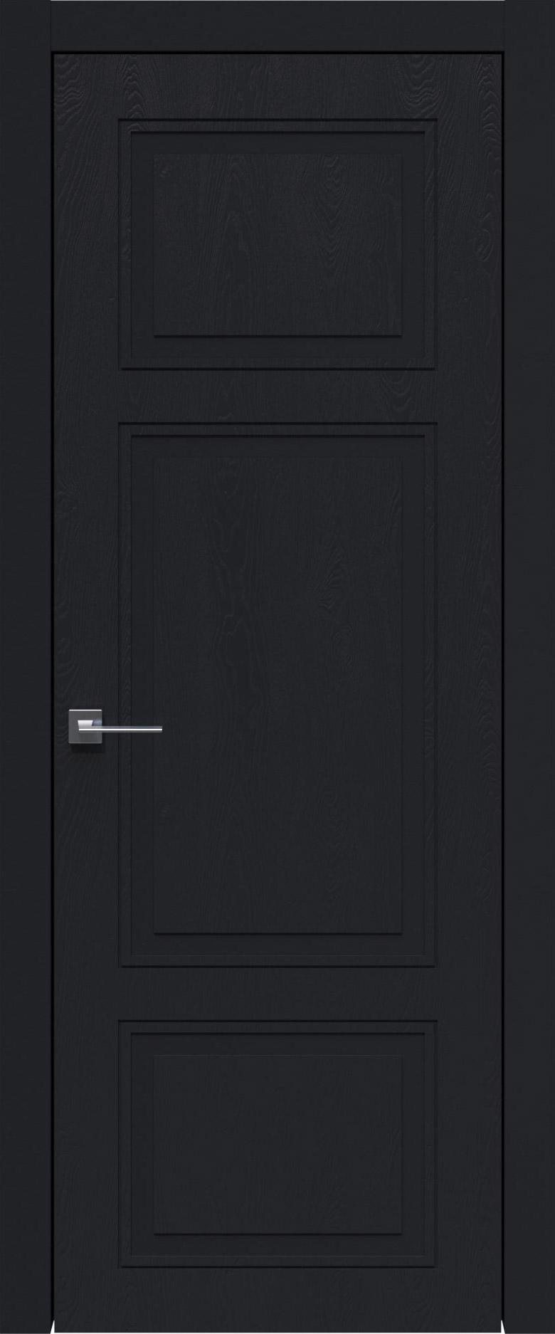 Siena Neo Classic цвет - Черная эмаль по шпону (RAL 9004) Без стекла (ДГ)