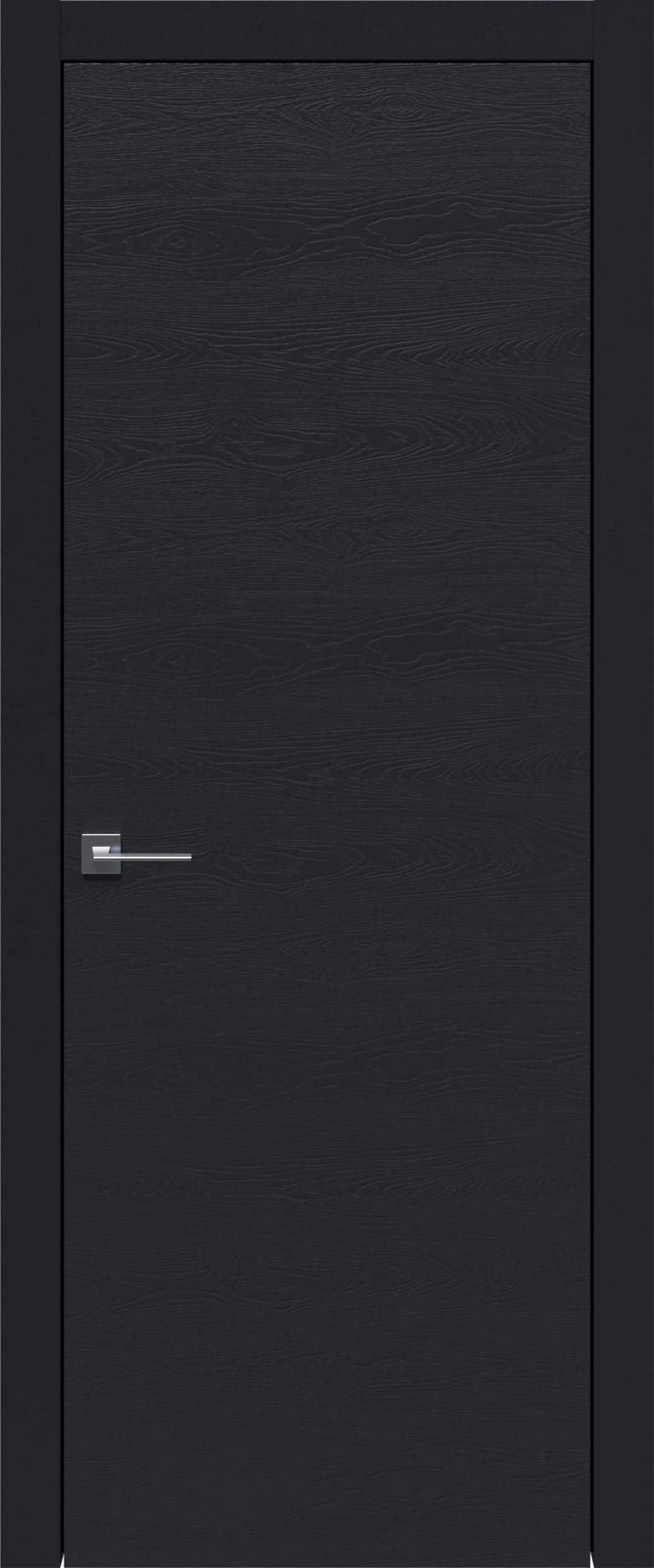 Tivoli А-2 цвет - Черная эмаль по шпону (RAL 9004) Без стекла (ДГ)