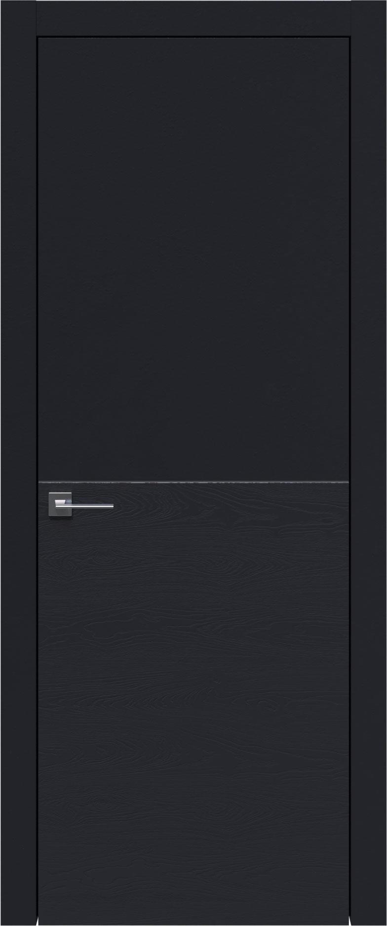 Tivoli Б-2 цвет - Черная эмаль-эмаль по шпону (RAL 9004) Без стекла (ДГ)