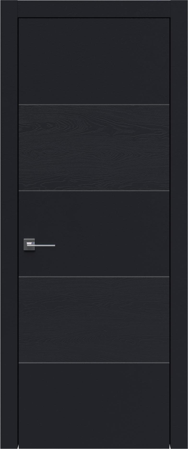 Tivoli Д-2 цвет - Черная эмаль-эмаль по шпону (RAL 9004) Без стекла (ДГ)
