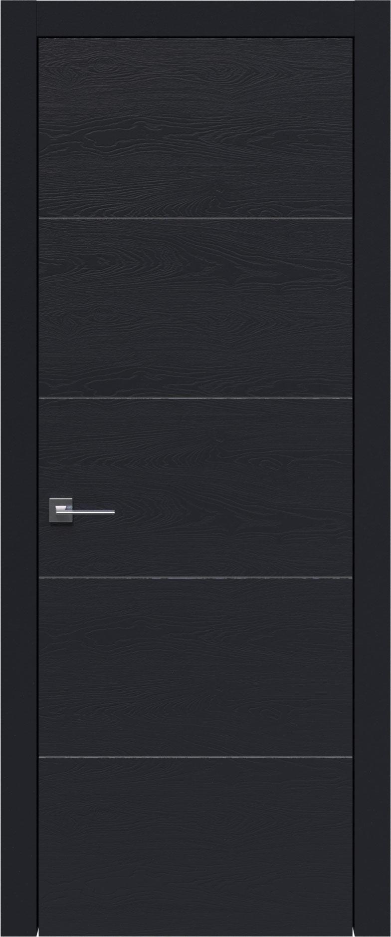 Tivoli Д-2 цвет - Черная эмаль по шпону (RAL 9004) Без стекла (ДГ)