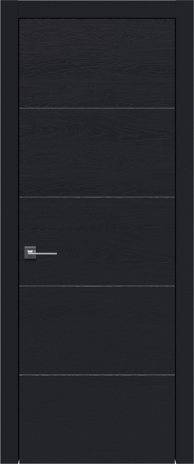 Tivoli Д-3 цвет - Черная эмаль по шпону (RAL 9004) Без стекла (ДГ)