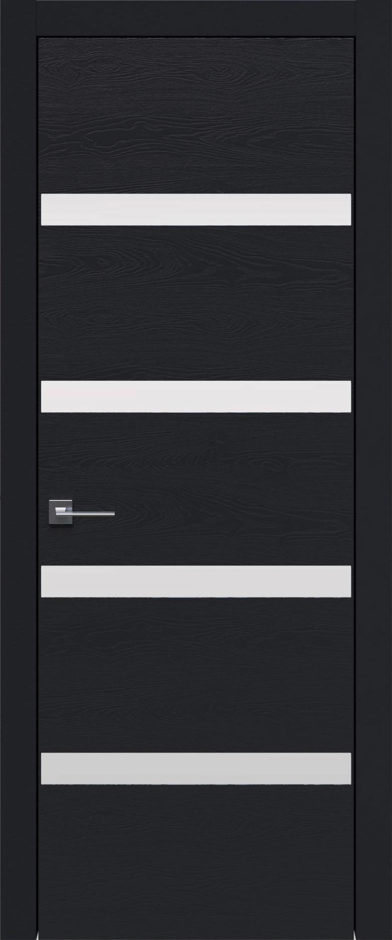 Tivoli Д-4 цвет - Черная эмаль по шпону (RAL 9004) Без стекла (ДГ)