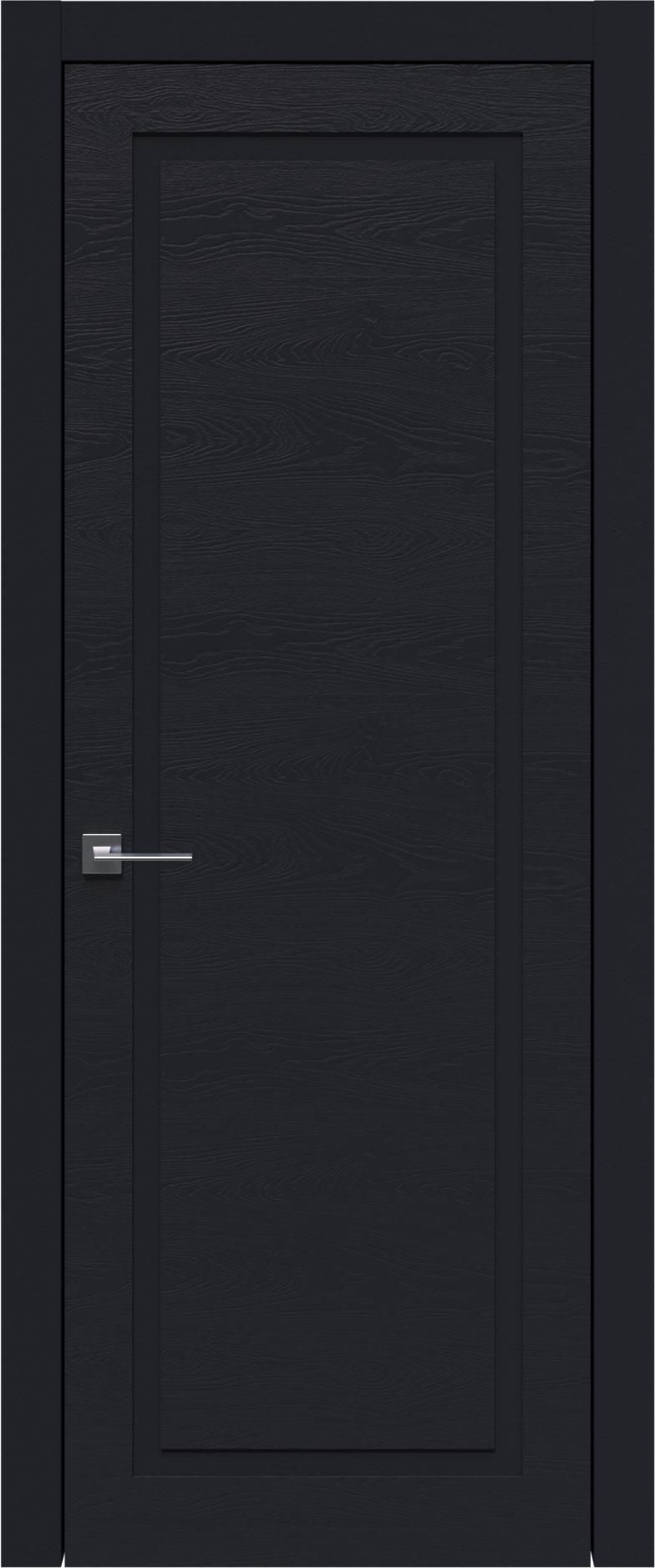 Tivoli Д-5 цвет - Черная эмаль по шпону (RAL 9004) Без стекла (ДГ)