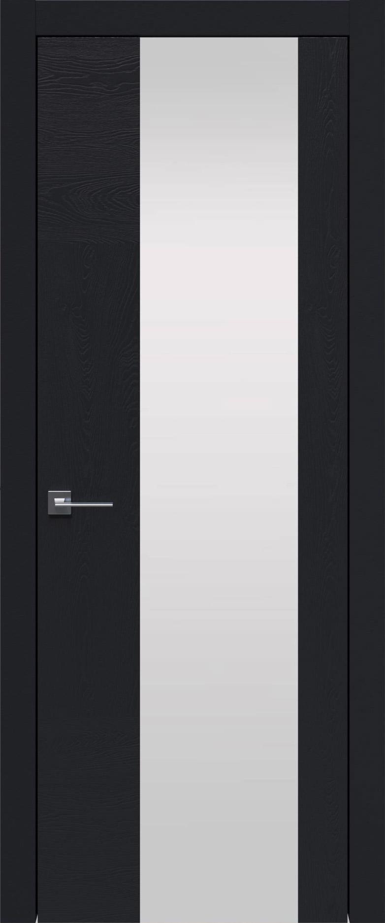 Tivoli Е-1 цвет - Черная эмаль по шпону (RAL 9004) Со стеклом (ДО)