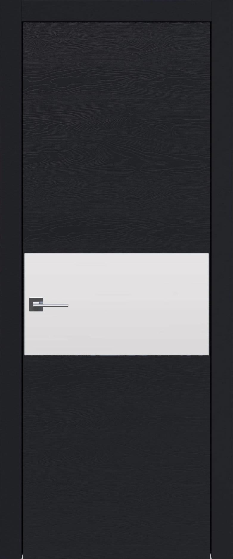 Tivoli Е-4 цвет - Черная эмаль по шпону (RAL 9004) Без стекла (ДГ)