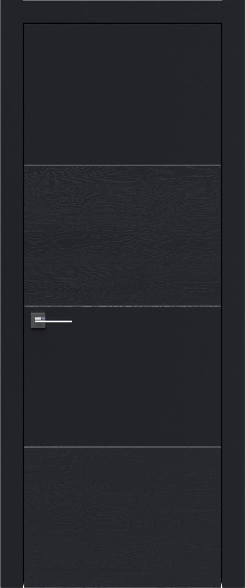 Tivoli Г-2 цвет - Черная эмаль-эмаль по шпону (RAL 9004) Без стекла (ДГ)