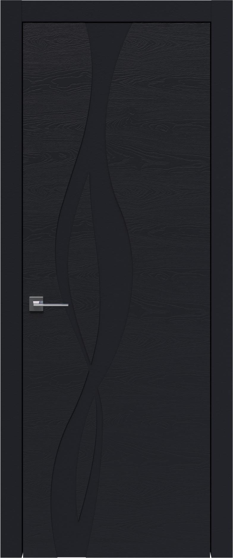Tivoli Г-5 цвет - Черная эмаль по шпону (RAL 9004) Без стекла (ДГ)