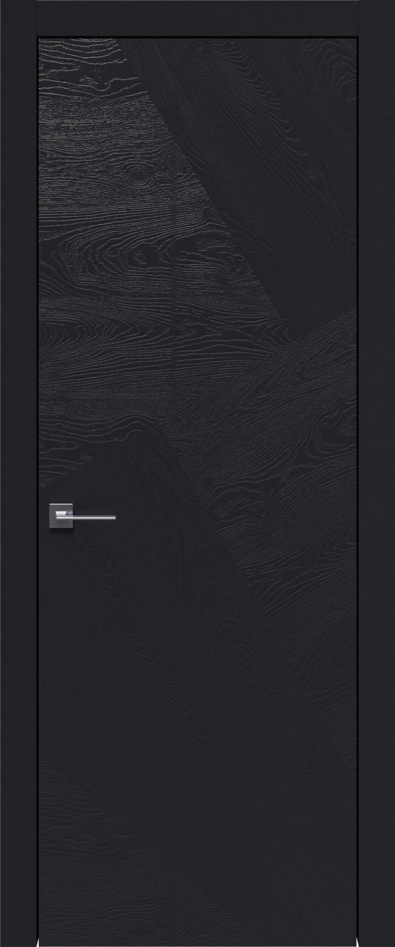 Tivoli М-1 цвет - Черная эмаль по шпону (RAL 9004) Без стекла (ДГ)