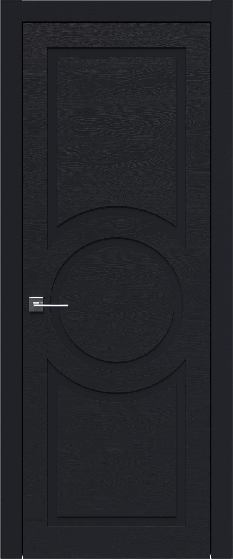 Tivoli М-5 цвет - Черная эмаль по шпону (RAL 9004) Без стекла (ДГ)