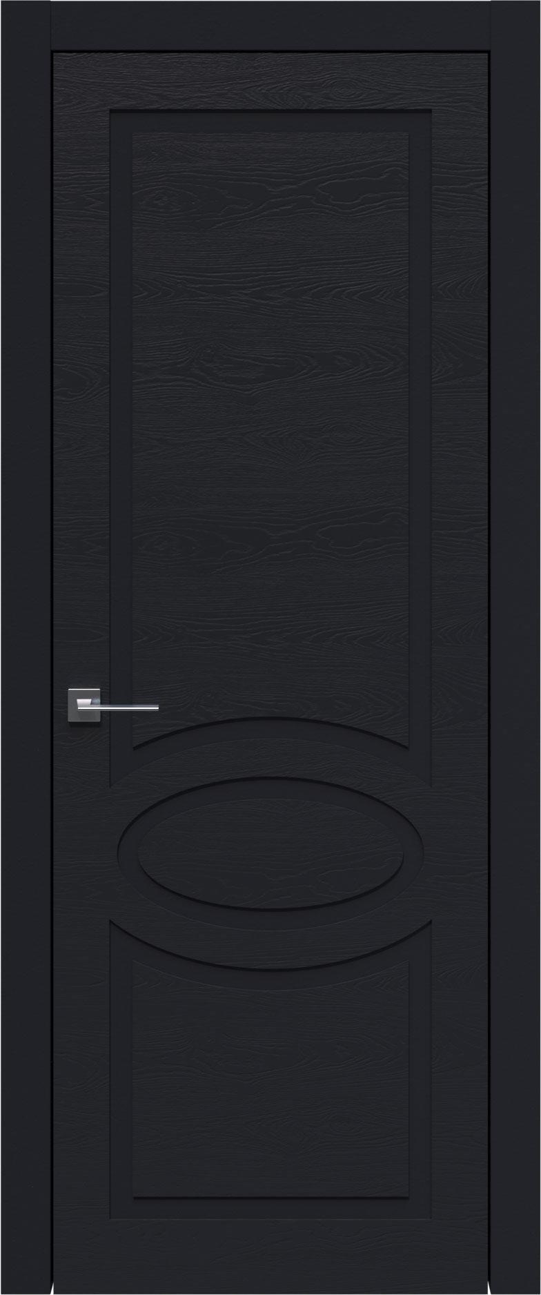 Tivoli Н-5 цвет - Черная эмаль по шпону (RAL 9004) Без стекла (ДГ)