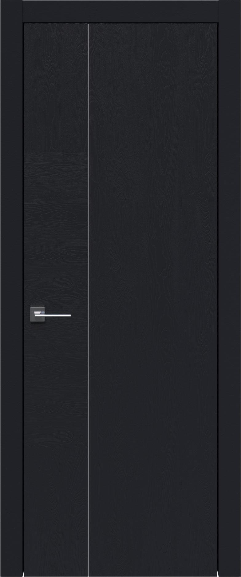 Tivoli В-1 цвет - Черная эмаль по шпону (RAL 9004) Без стекла (ДГ)