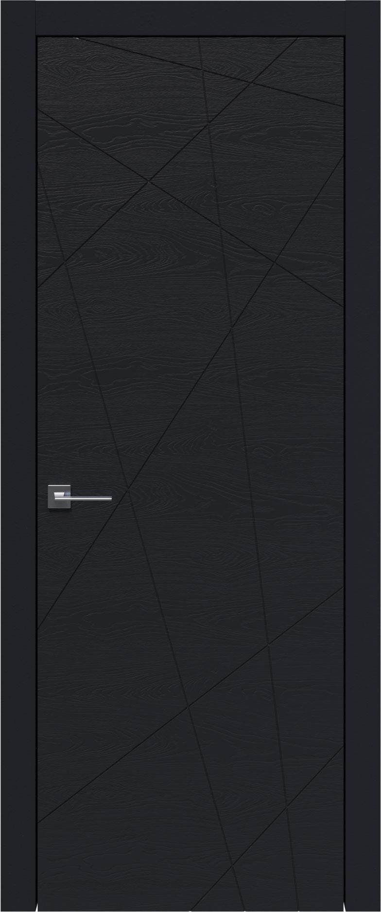 Tivoli В-5 цвет - Черная эмаль по шпону (RAL 9004) Без стекла (ДГ)