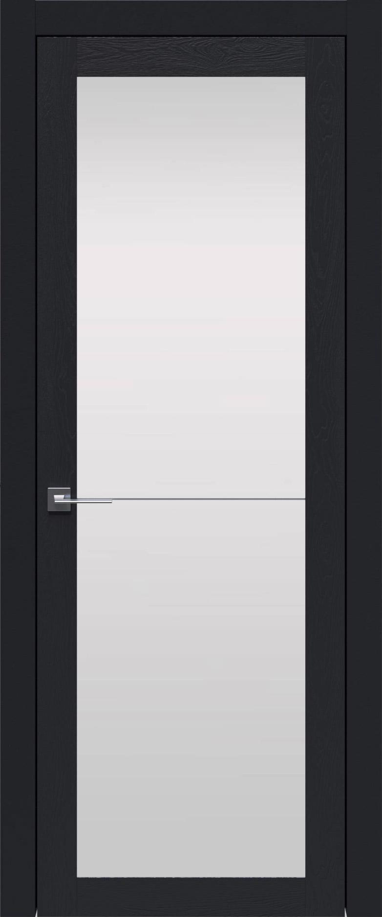 Tivoli З-2 цвет - Черная эмаль по шпону (RAL 9004) Со стеклом (ДО)