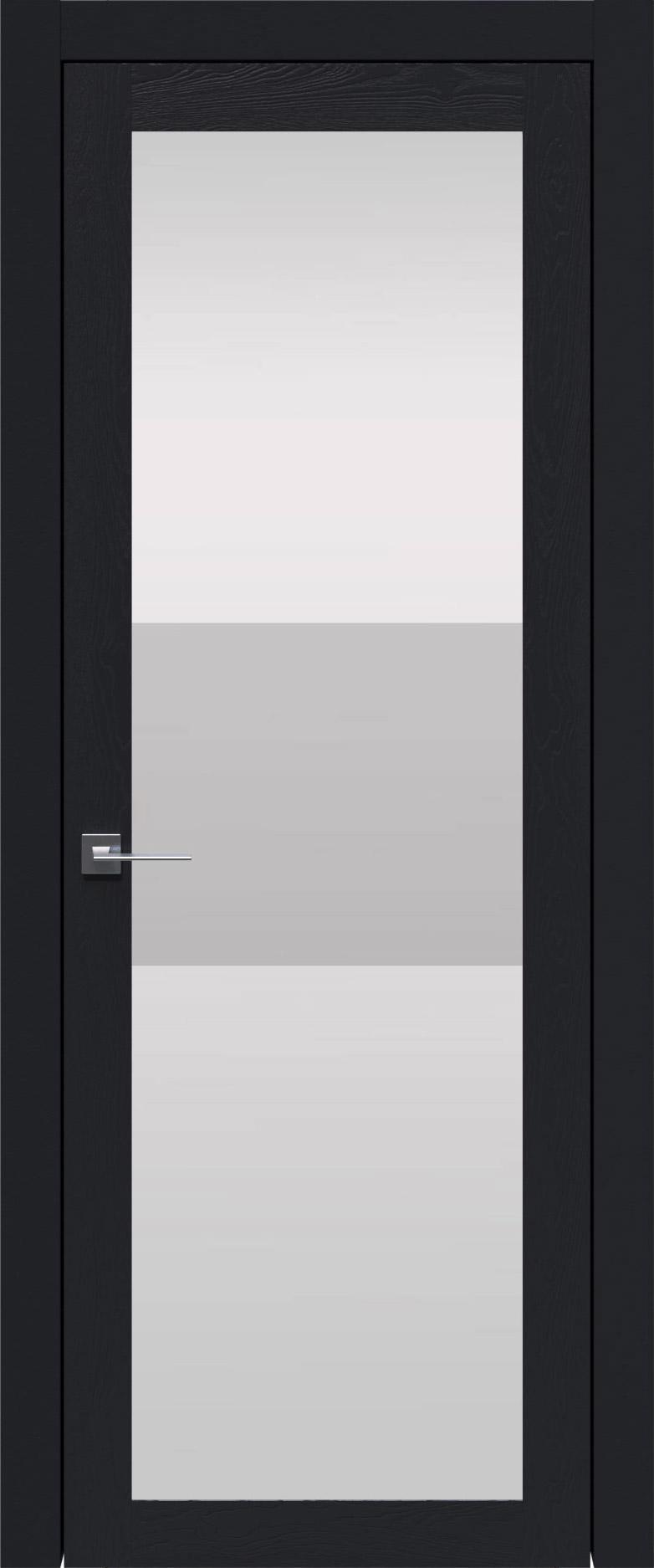 Tivoli З-4 цвет - Черная эмаль по шпону (RAL 9004) Со стеклом (ДО)