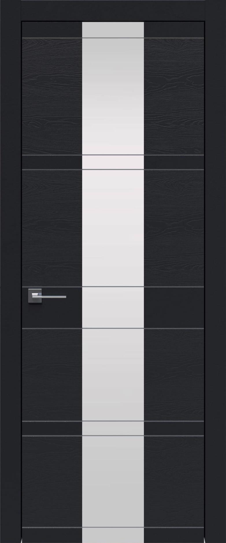 Tivoli Ж-2 цвет - Черная эмаль-эмаль по шпону (RAL 9004) Со стеклом (ДО)