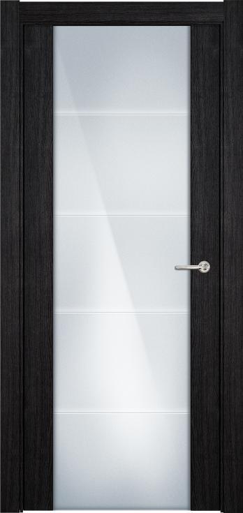 Versia       Цвет дуб черный Стекло Триплекс 8 мм с горизонтальной гравировкой