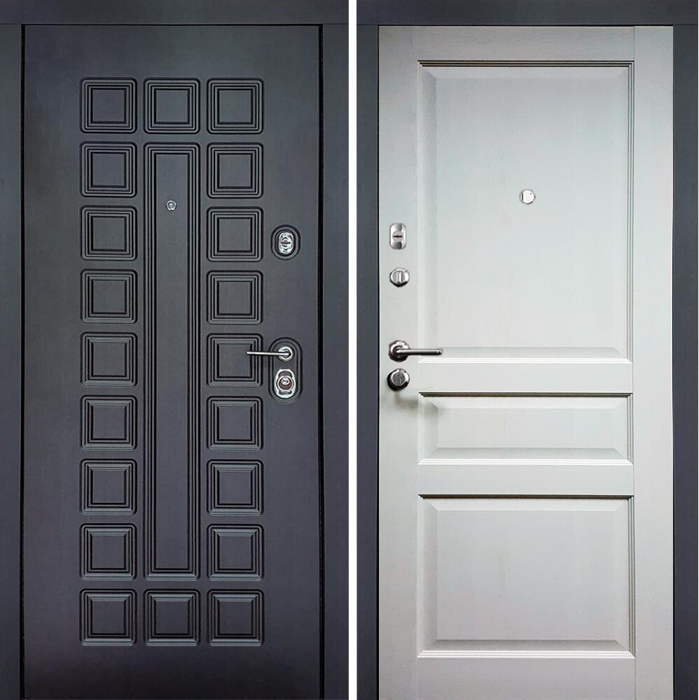 Коллекция Входные двери Цвет Дуб белый