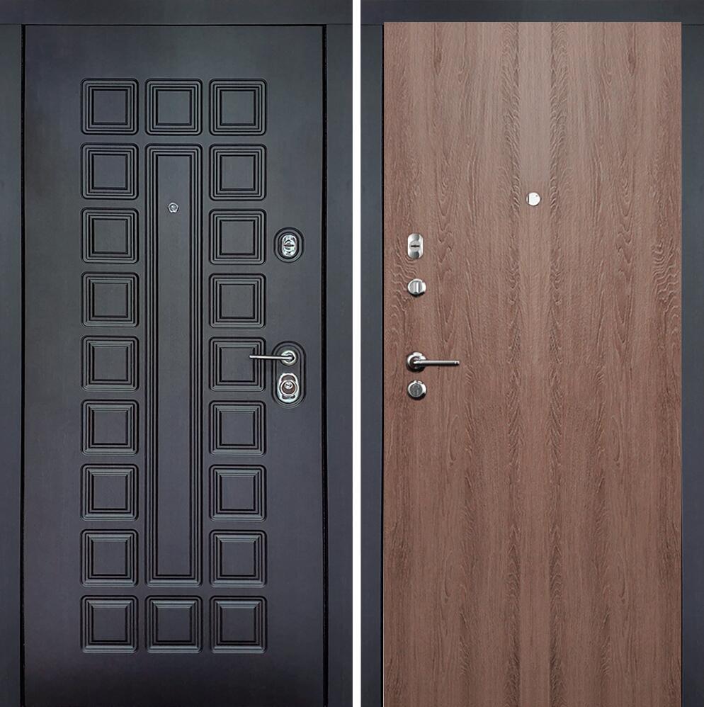 Коллекция Входные двери Цвет Дуб капучино