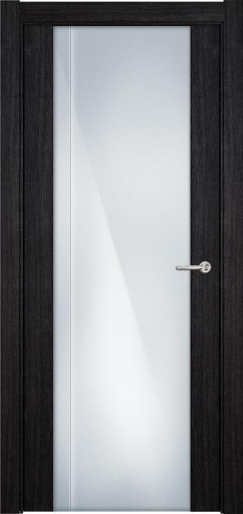 Коллекция Futura 331 Дуб черный + Триплекс 8 мм с вертикальной гравировкой