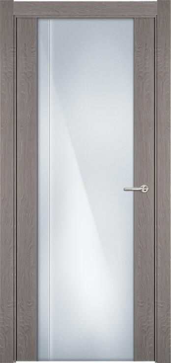 Коллекция Futura 331 Дуб   серый + Триплекс 8 мм с вертикальной гравировкой
