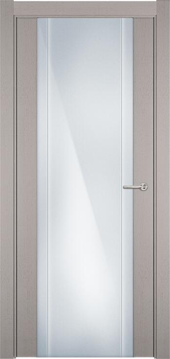 Коллекция Futura 332 Дуб белый + Триплекс 8 мм с вертикальной гравировкой