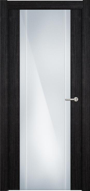 Коллекция Futura 332 Дуб черный + Триплекс 8 мм с вертикальной гравировкой
