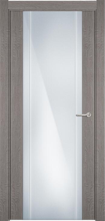 Коллекция Futura 332 Дуб   серый + Триплекс 8 мм с вертикальной гравировкой