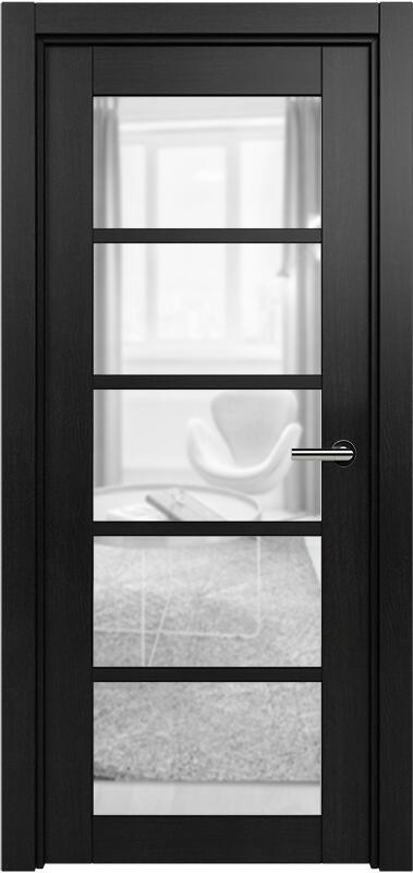 Коллекция Optima 122 Дуб черный + сатинато прозрачное