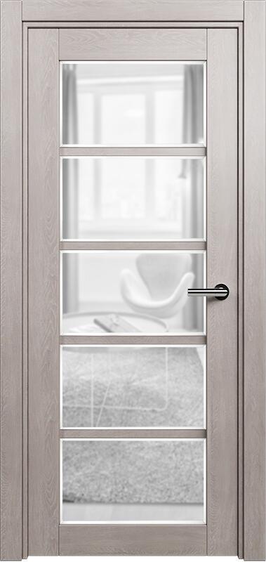 Коллекция Optima 122 Дуб   серый + сатинато прозрачное фацет
