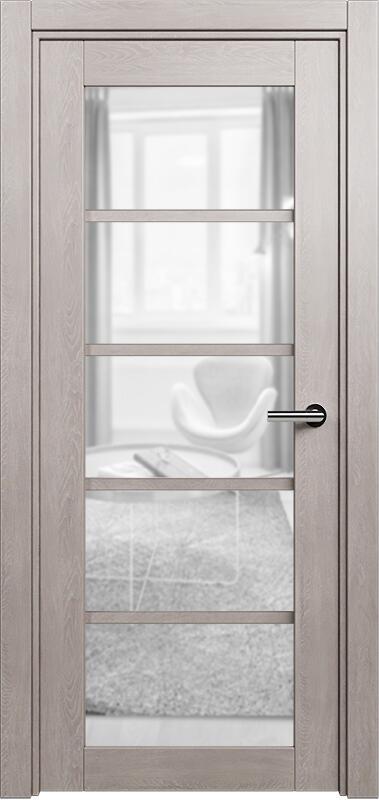 Коллекция Optima 122 Дуб   серый + сатинато прозрачное