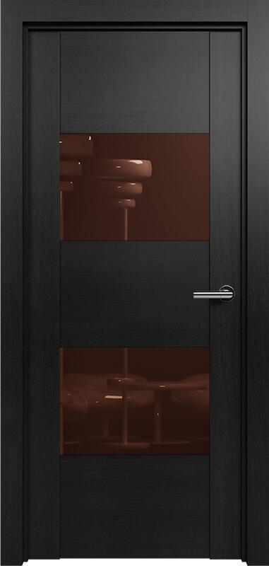 Коллекция Versia 221 Дуб черный + Лакобель коричневое