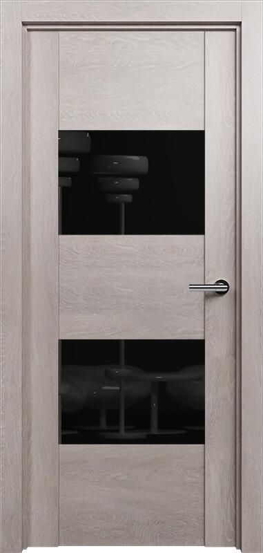 Коллекция Versia 221 Дуб   серый + Лакобель черное