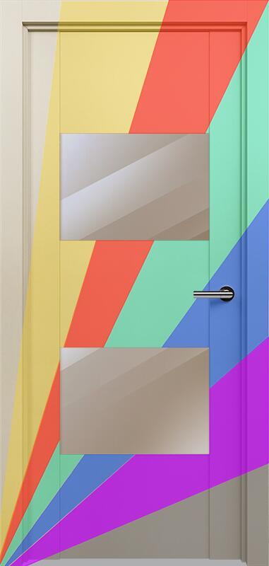 Коллекция Versia 221 Эмаль. Стандарт - RAL 7004,7015,1015,1019,9003.  Нестандарт - любой цвет по RAL. + зеркало бронза