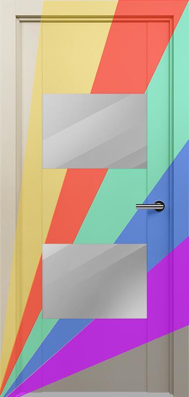 Коллекция Versia 221 Эмаль. Стандарт - RAL 7004,7015,1015,1019,9003.  Нестандарт - любой цвет по RAL. + зеркало графит