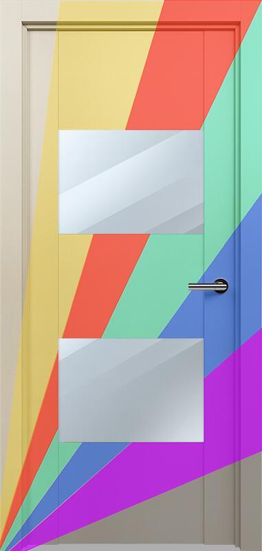 Коллекция Versia 221 Эмаль. Стандарт - RAL 7004,7015,1015,1019,9003.  Нестандарт - любой цвет по RAL. + Зеркало
