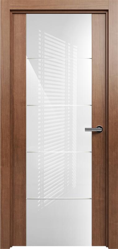 Коллекция Versia 222 Анегри + Триплекс 8мм белый с горизонтальной гравировкой