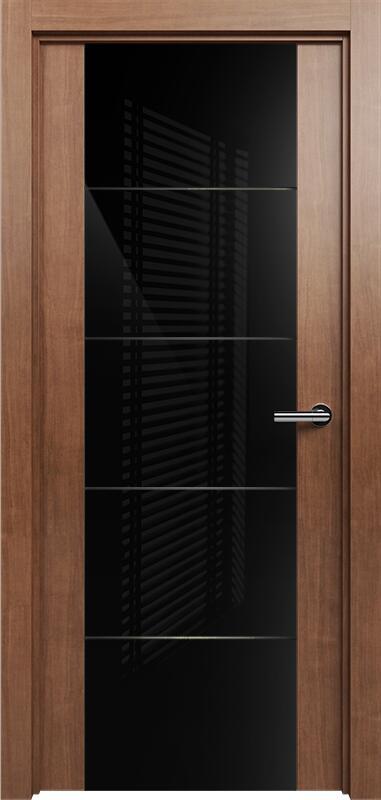 Коллекция Versia 222 Анегри + Триплекс 8мм черный с горизонтальной гравировкой