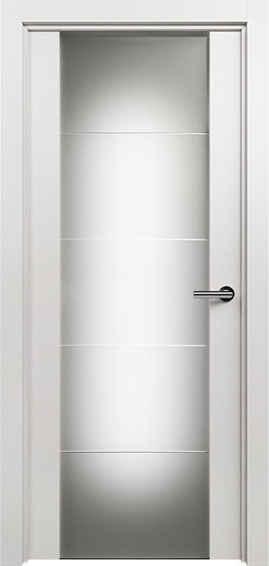 Коллекция Versia 222 Белый   лёд + Триплекс 8 мм с горизонтальной гравировкой